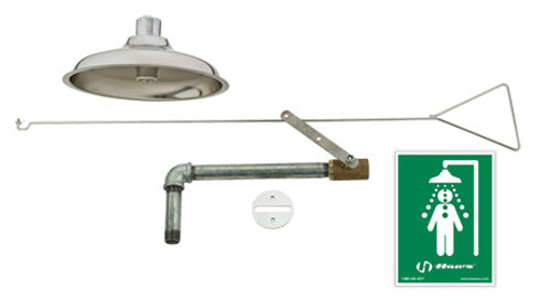 Haws 8169 Recessed Ceiling Mount Drench Shower- horizontal