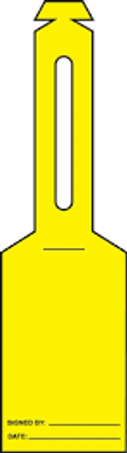 Loop Safety Tags- blank yellow