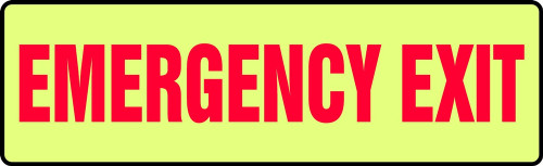 Emergency Exit Glow Sign