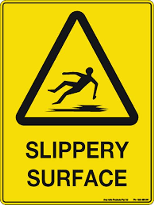 Slippery Surface Hazard - Plastic - 6''
