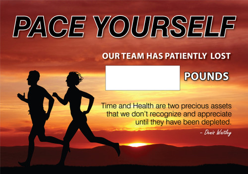 Work Healthy Write A Day Pounds Lost Scoreboard Plastic- Pace Yourself