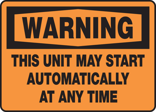 Warning - This Unit May Start Automatically At Any Time
