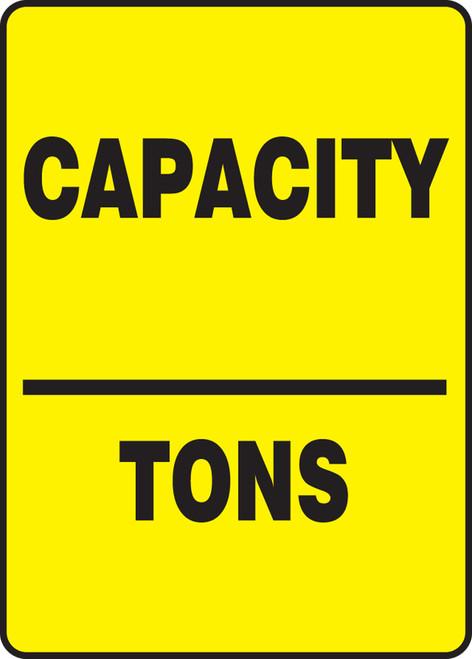 Capacity ___ Tons - Adhesive Vinyl - 14'' X 10''