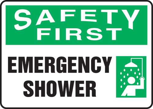 Safety First - Safety First Emergency Shower - Re-Plastic - 7'' X 10''