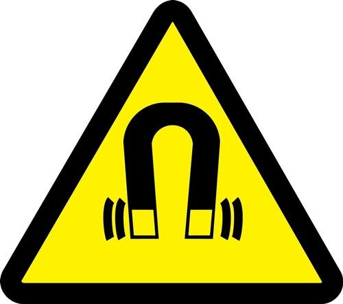 Electro Magnetic Hazard - .040 Aluminum - 6''