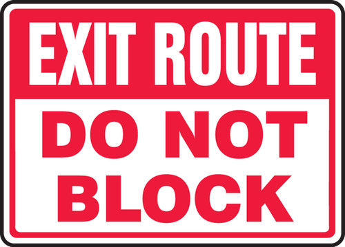 Exit Route Do Not Block