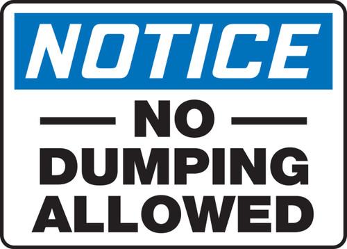 Notice - No Dumping Allowed