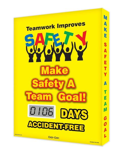 Digi Day Lite Electronic Safety Scoreboard SCJ106