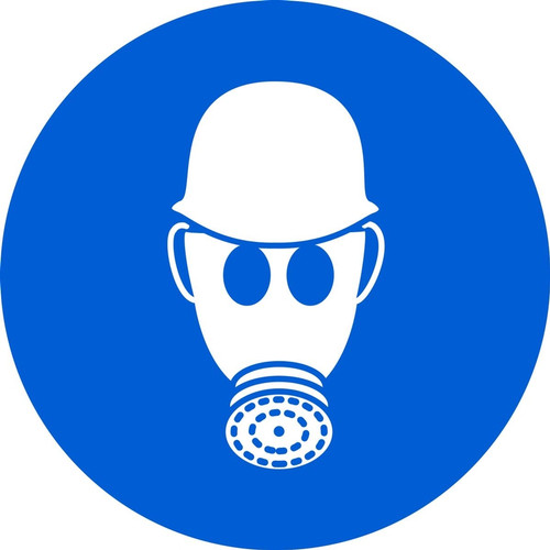Wear Respiratory & Head Protection ISO Safety Sign