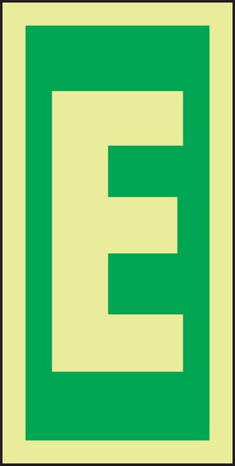 Letter E IMO Sign