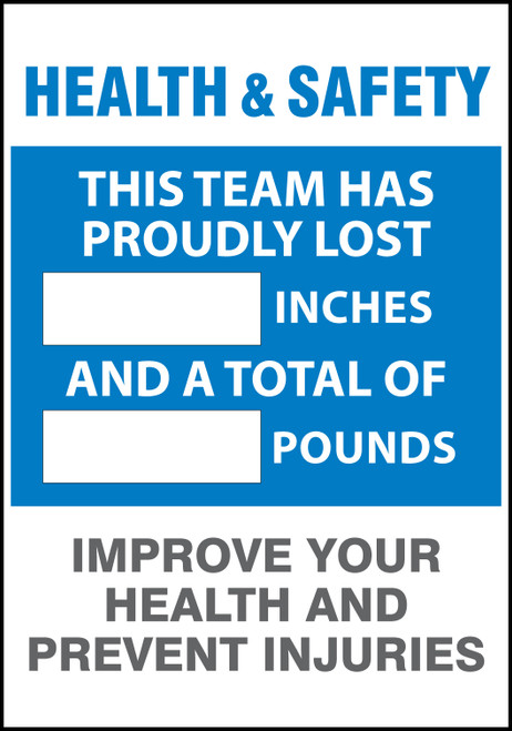 Work Healthy Write A Day Pounds Lost and Inches Lost Scoreboard 1