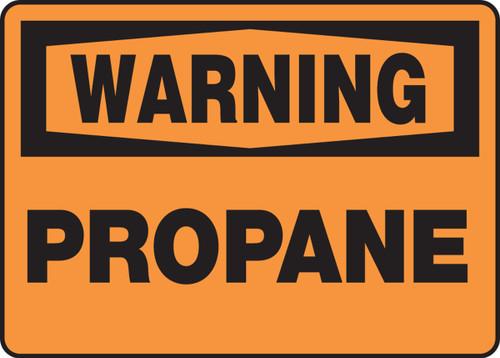 Warning - Propane - Dura-Fiberglass - 10'' X 14''