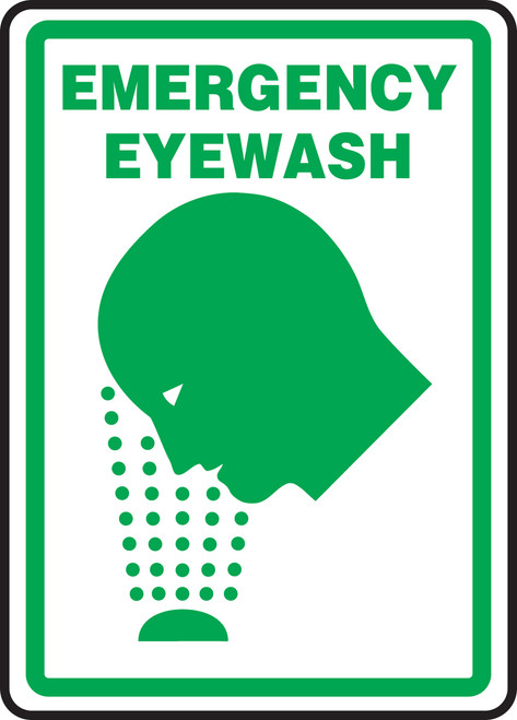 Emergency Eyewash Sign 1