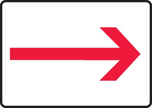 Arrow (Red-White) - Adhesive Vinyl - 7'' X 10''