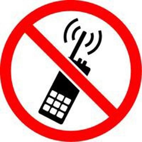 No Portable Transmitters - .040 Aluminum - 6''