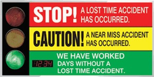 """Signal Safety Scoreboard with 2 1/2"""" Digi Day Counter 