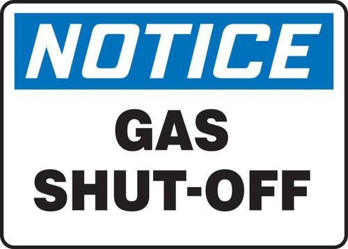 Notice - Gas Shut Off