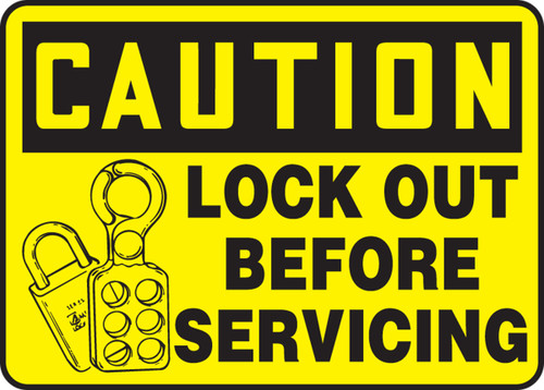 Caution - Lock Out Before Servicing