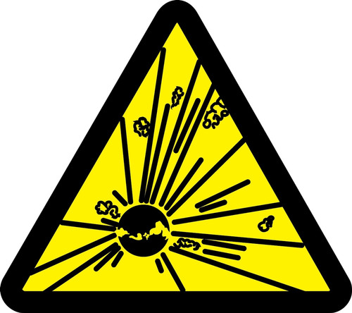 Explosives Hazard Sign MISO356VS
