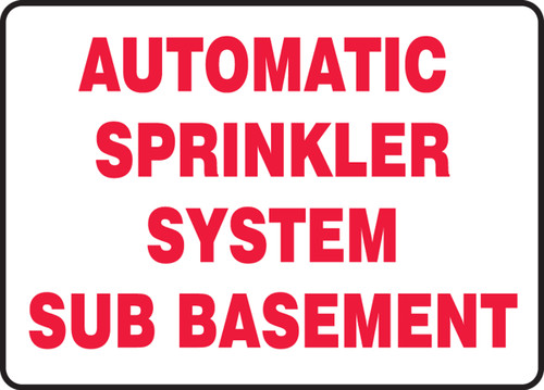 Automatic Sprinkler System Sub Basement