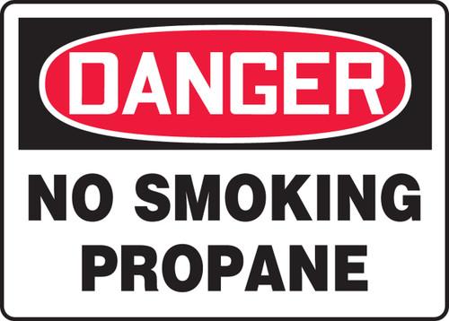 Danger - No Smoking Propane - Adhesive Dura-Vinyl - 10'' X 14''