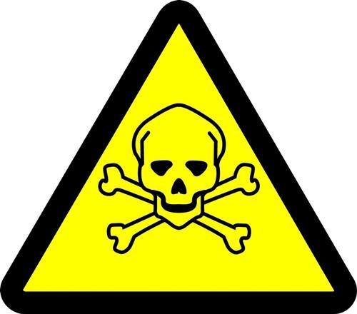 Oxidizing Materials Hazard - Adhesive Vinyl - 6''