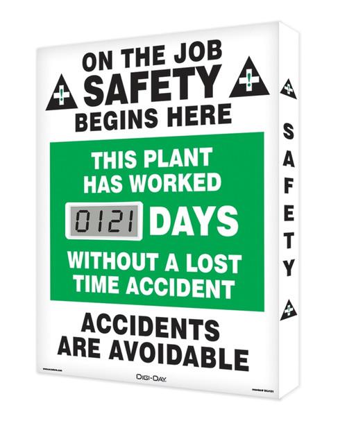 Digi Day Lite Electronic Safety Scoreboard SCJ121