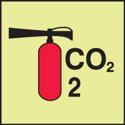 Fire Extinguisher - Co2 IMO Sign