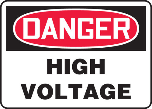Danger - High Voltage - Plastic - 18'' X 24''