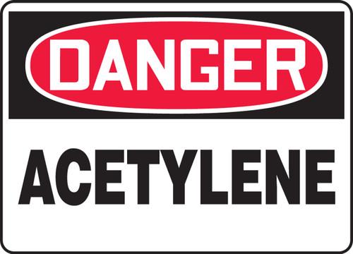 Danger - Acetylene - Adhesive Dura-Vinyl - 14'' X 20''