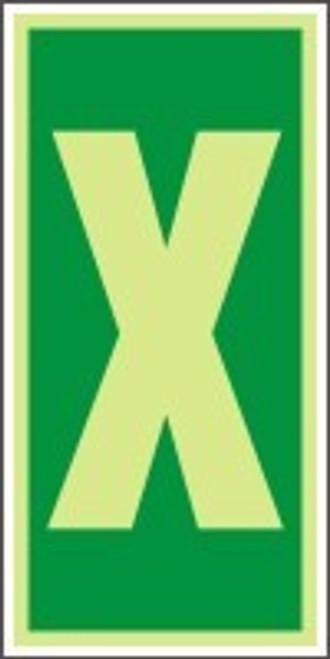 "Letter X IMO Character 6"" x 3"" Dura Lumi-Glow Adhesive"