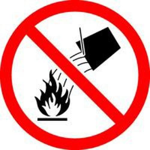 Do Not Extinguish With Water - .040 Aluminum - 6''