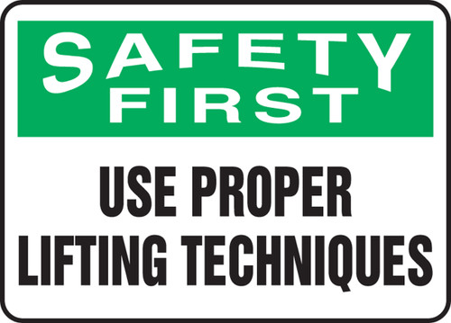Safety First - Use Proper Lifting Techniques