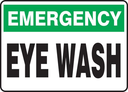 Emergency Eye Wash - Adhesive Dura-Vinyl - 7'' X 10''
