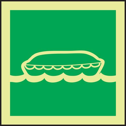 Lifeboat IMO Sign