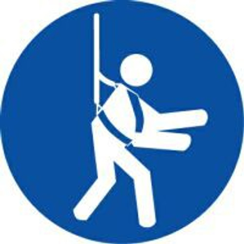 Wear Safety Harness ISO Safety Sign