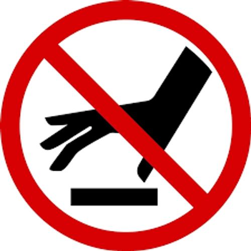 Do Not Touch Surface - .040 Aluminum - 6''