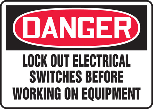 Lockout Electrical Switches Before Working On Equipment