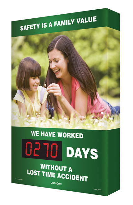 Electronic Safety Scoreboards- Digi Day- Safety Is A Family Value SCA270