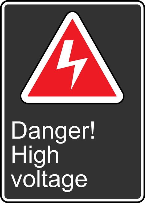 MCSA143VS Danger High Voltage Sign