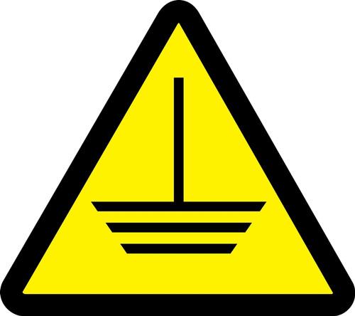 Electric Ground Hazard - Adhesive Vinyl - 6''