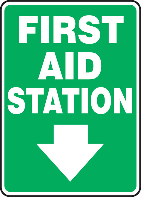 First Aid Station Sign Dow Arrow MFSD561VP