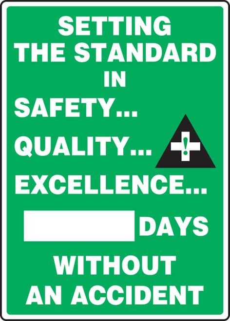 Write A Day Safety Scoreboard 28 x 20 Aluminum 1