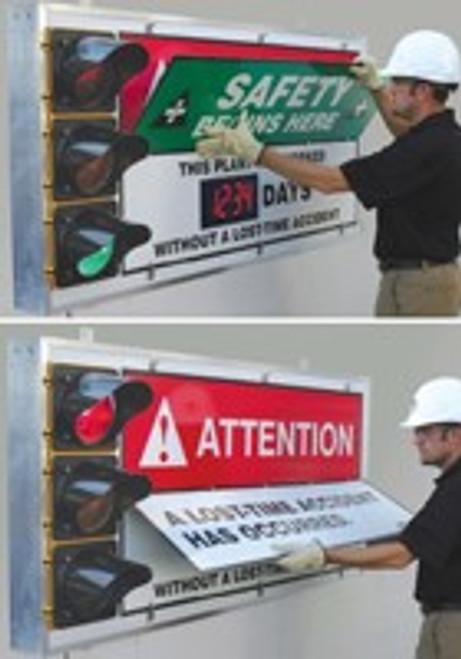 Signal Flip Safety Scoreboard- LED Lite Accuform SCT202