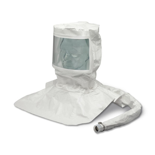 Allegro 9912-C Double Bib Maintenance Free Tyvek Hood CF SAR Assembly w/ Susp. & Personal Air Cooler w/ Hansen Fitting