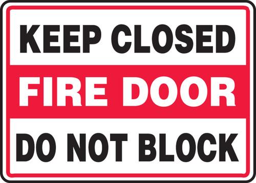 Keep Closed Fire Door Do Not Block