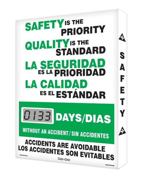 Digi Day Lite Electronic Safety Scoreboard Bilingual  SCJ133
