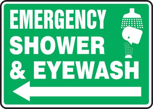 Emergency Shower & Eye Wash Sign- Arrow Left