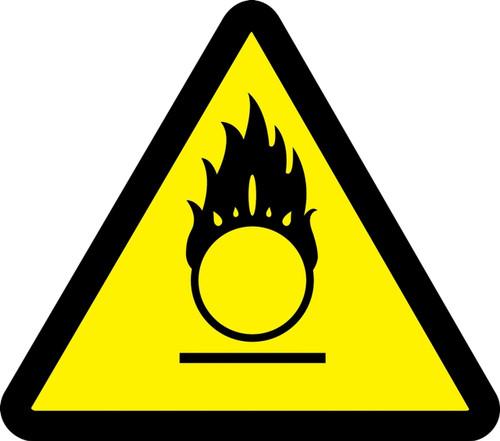 Oxidizing Materials Hazard - Plastic - 6''