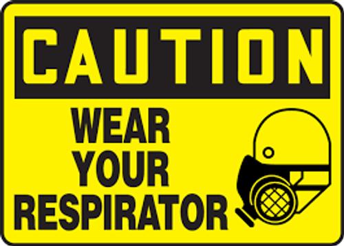 Wear Respiratory Protection - .040 Aluminum - 6''